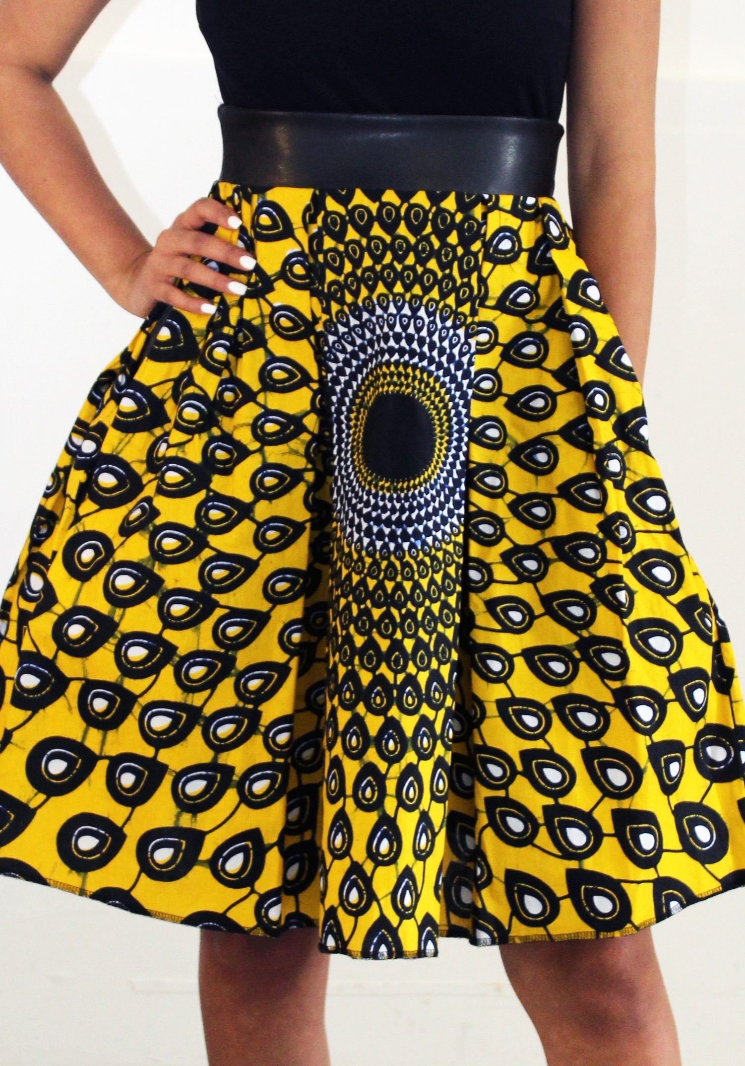 Afrikan Print Yellow Whats Your Skirt