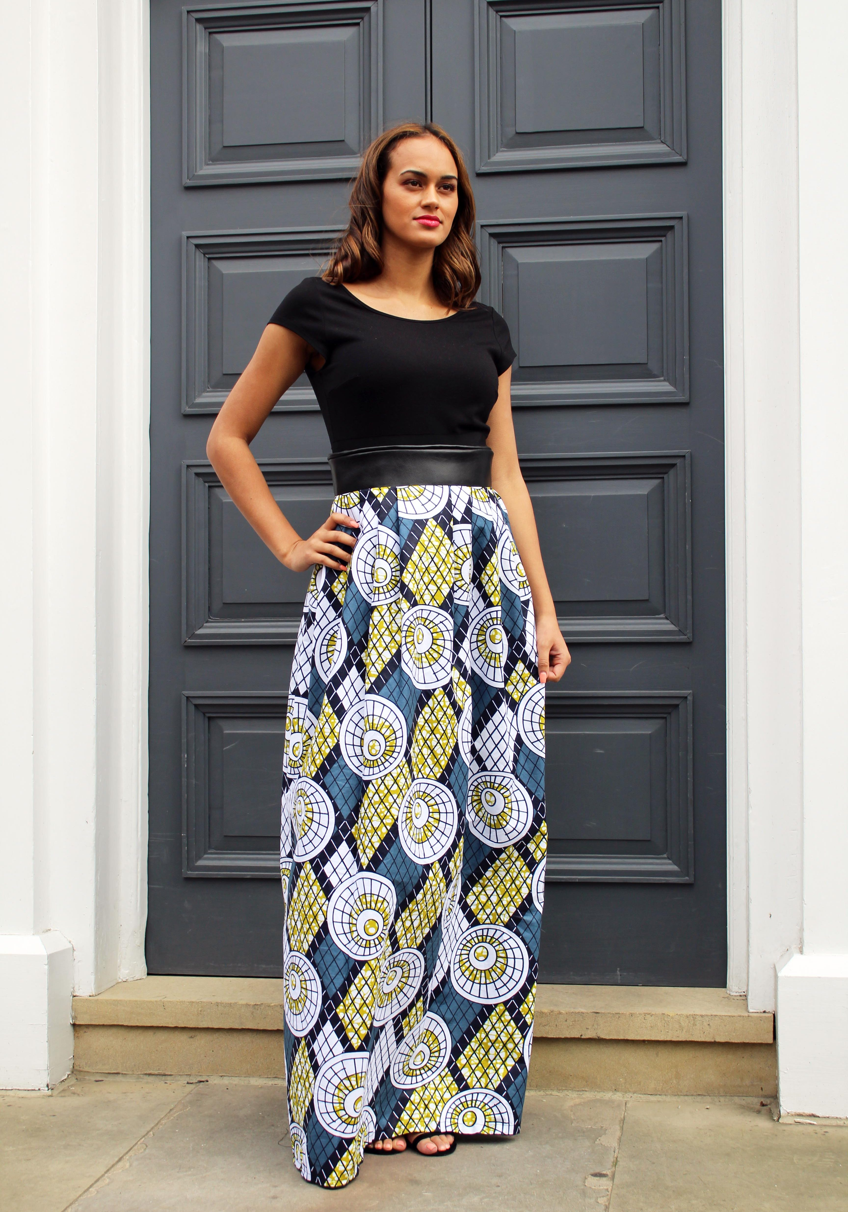 The Aleesa Skirt African Print Whats Your Skirt